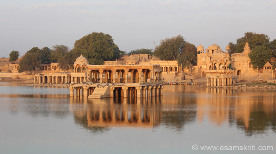 View of monuments in lake without the fort background. The monuments might be similar but they looked so beautiful from different angles and shades of sun that wanted to share.