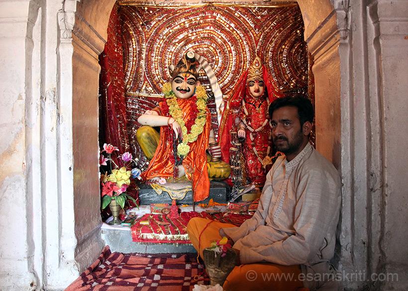 Inside the Vishwanath Mandir.