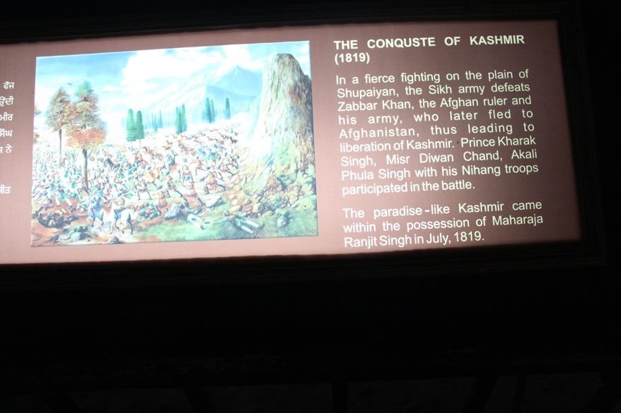 Defeated the Afghan ruler in 1819 to conquer Kashmir. Inspite of his o/s successes, Ranjit Singh remained true to his alliance with the British throughout his life. He refused to help Nepal against the British. He 