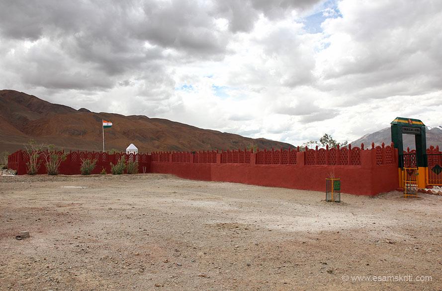 Overview of Rezang La War Memorial.
