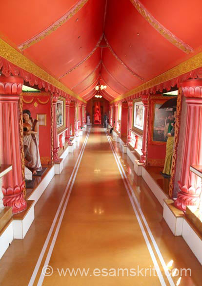 "So far images of room where we entered. This corridor is inside of what u saw in pic two. It has images on either side. """"Mr. Kapoor won many awards throughout his career, including 9 FILMFARE AWARDS and 19 nominations."""