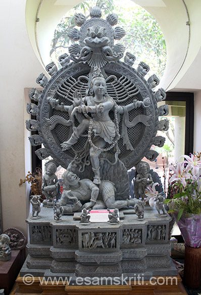 In show room is image of Nataraj - The eternal destroyer.