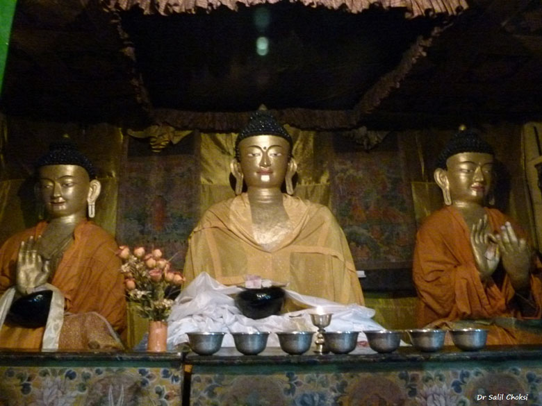 "Forms of Buddha - Stakna monastery. To know more <a href=""http://www.buddhist-temples.com/buddhist-monastery/ladakh/stakna.html"" target=_blank>Click here</a>"
