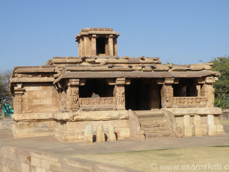 Temple at Aihole, Karnataka. Note that pieces of stone used to close the joints like what you see at Baijnath. Note the distance between the two places. One up North in hills and the other