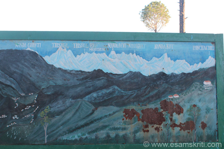Board gives you names of the various Himalayan peaks.