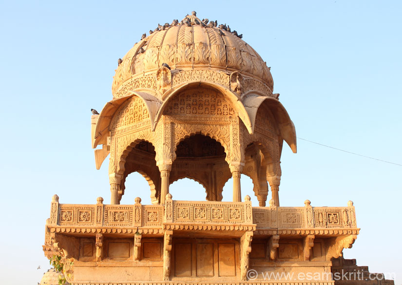 A close up of a Chhattri. Note the design, balance and intricate work. For some strange reason did not take pic of the lake from the western side ie facing the rising sun. Guess was 