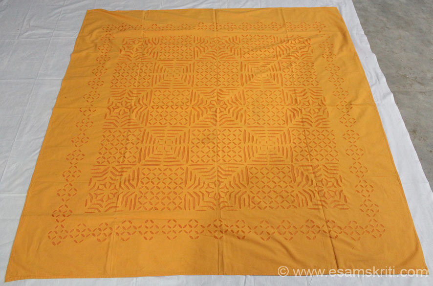 Patch work table cloth 60 by 90 about Rs 2,300/.