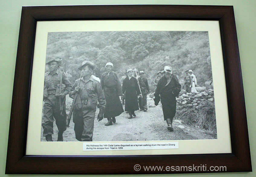 The monastery has a museum with some rare pictures and artifacts. This shows Dalai Lama``s escape from Chinese Occupied Tibet in 1959.