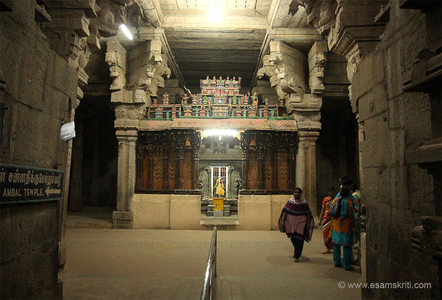 "One of the smaller shrines. ""Little to the south of Swami Nellaiappar Gopuram stands the Gopuram of Arultharum Kanthimathi Ambal temple. It was here, where composer Sri Muthuswami Dikshithar composed the carnatic song ``Sri Kanthimatheem`` in Hemavathi ragam."""