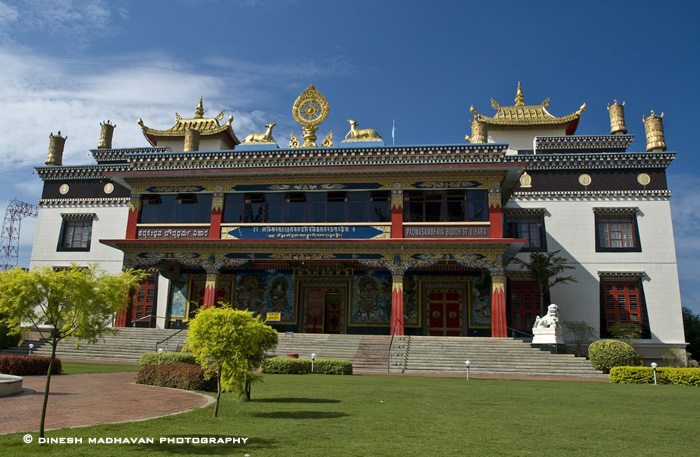 Outside view of one of the temple in the complex.