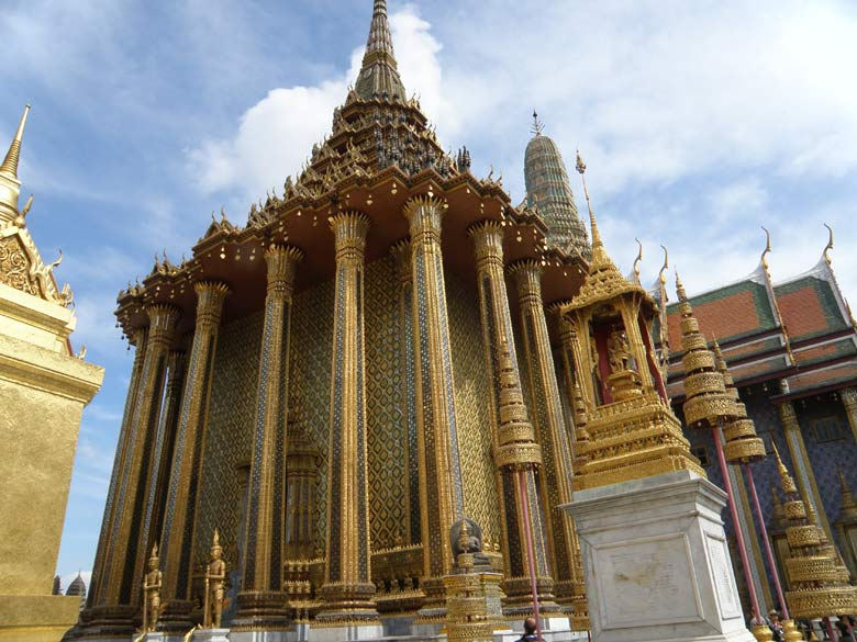 A close up view of Phra Mondop, the repository of Buddhist sacred scriptures. I wish that the boards that gave monument/mural description were also in English besides Thai. I made the mistake of not using the services of an English speaking guide.