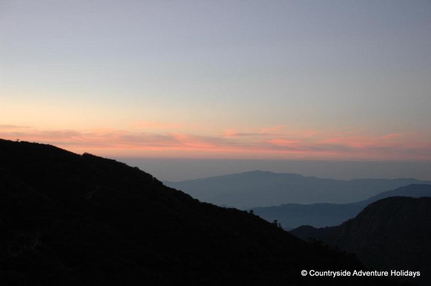 Sun set from Dzongri.