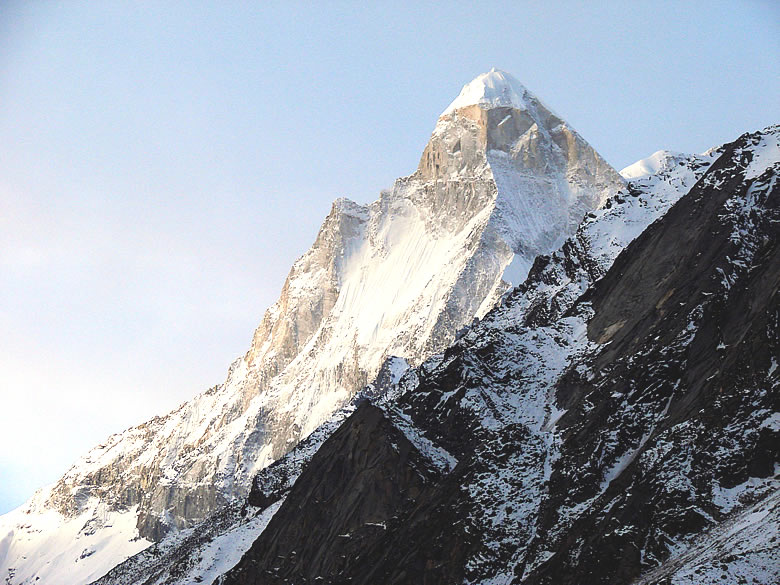 When Editor trekked to Tapovan for the first time in 1989 and saw the Shivling felt he had reached heaven. Height is 6,540 metres.