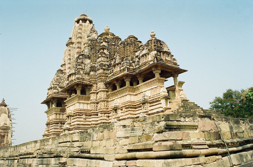 Temple from front side. It is dedicated to Lord Shiva. Made 1002 AD.
