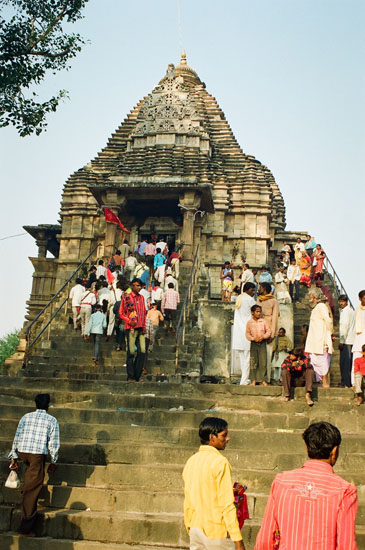 You see Matangeswara Temple i.e. still a place of worship. It is next to the Lakshmana Temple. Made 900-925 AD.