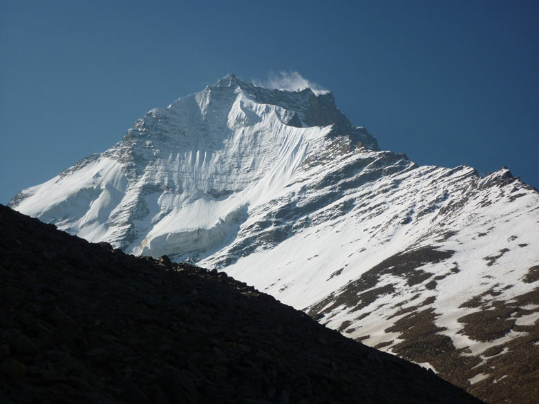 You see Vasuki Parbat (peak). Vasuki Tal is the source of the Vasuki Ganga that drains into the Mandakini.