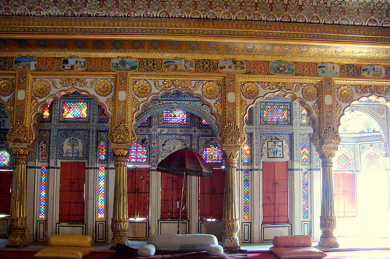 The Phul Mahal; the Palace of Flowers was built early on in the eighteenth century, and it's as if all the exotic beauty of India was condensed into this one exquisitely breathtaking room. The room is dedicated to the art of pleasure.