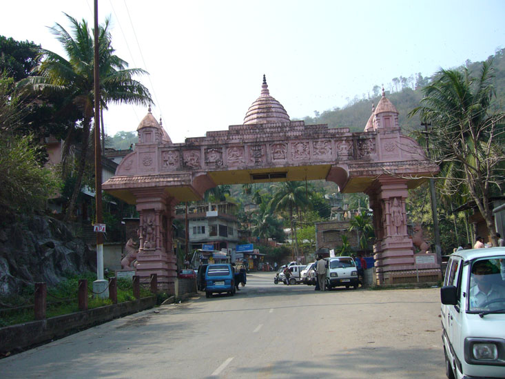 Gateway to Kamakhya Temple. It is one amongst the holiest shrines throughout India. Perched on Nilanchal Hill in Kamrup district of Assam. The temple commemorates Hindu Goddess Sati in her aspect of Kamakhya Devi. Goddess Kamakhya is also known as Sodashi in the local region.