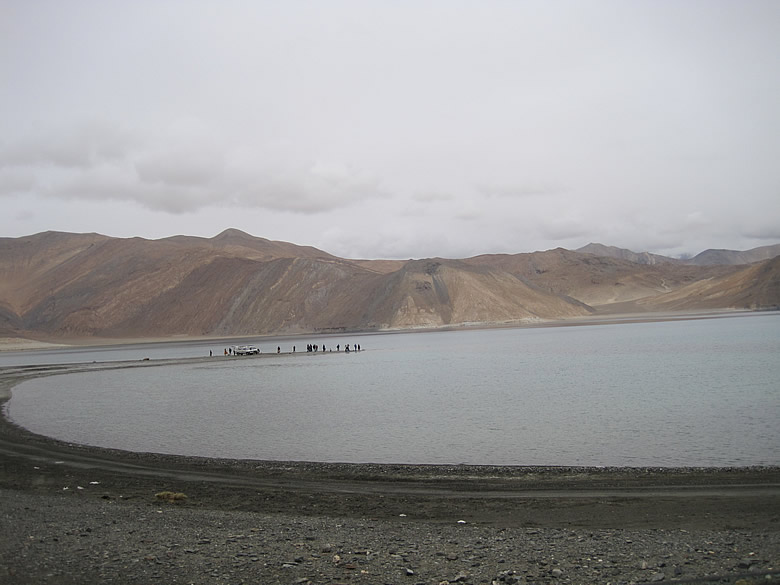 The beautiful PANGONG LAKE is about 130 Kms long. A large part of it extends into CHINA and is part of the Johnson line which separates China and India. This lake is also considered to be the world`s highest Salt Lake