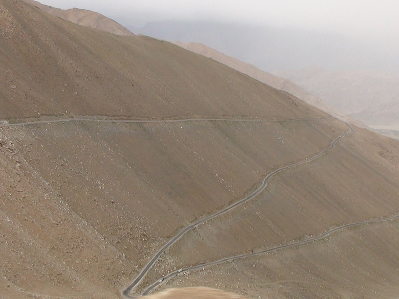 The trecherous road leading to PANGONG TSO (Tso means lake)