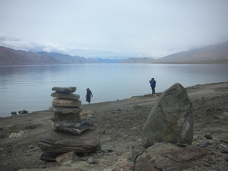 PANGONG TSO on a rainy day