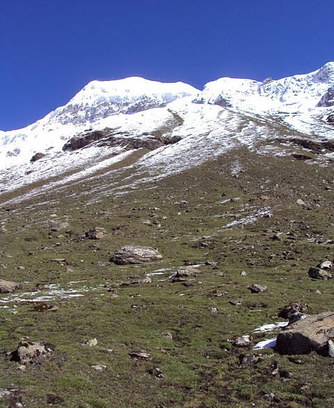 View of the deadly Mt Nanda Khat from Advance Camp.