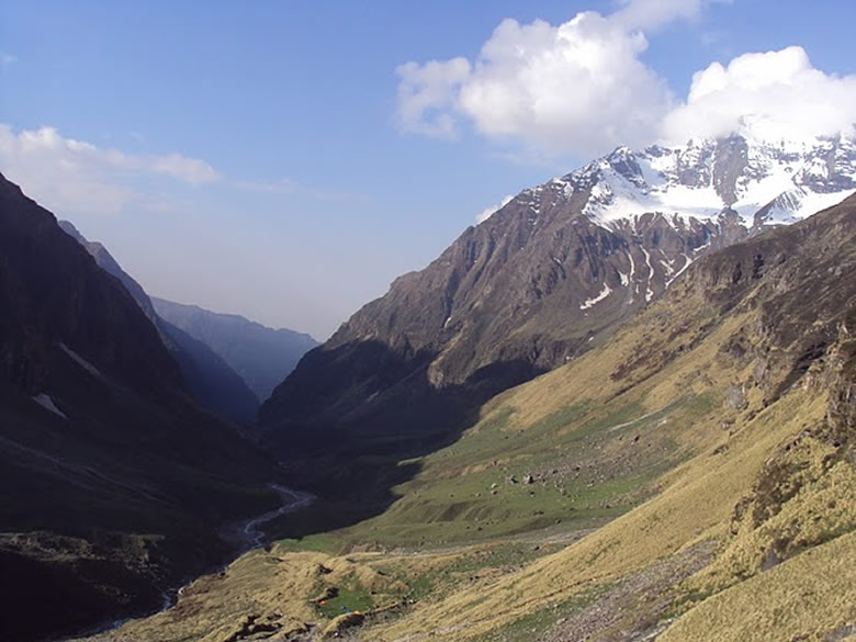 Rare view reaching Zero point ie Pindari Glacier