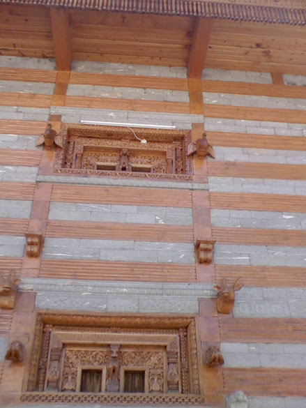 A beautiful temple, with intricate execution of earthquake-proof architecture promoting rhythmic motion of stone and wood in the event of seismic motion.