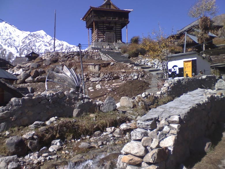 Chitkul, last village on the Indo-Tibet border. Tower dwellings often doubled as observation towers in the days of yore, marking royal palaces in Himachal Pradesh. Its mountain territory often braved invasions from the North.
