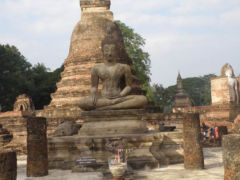 You see one more image of Buddha with a chedi (stupa) in the background. On the right is an image of the standing Buddha. When you tell Thai people you are from India, the Land of Buddha, they look at you with respect. Buddha. When you tell Thai people you are from India, the Land of Buddha, they look at you with respect.