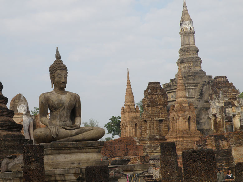 Another view of the same Buddha image with the main stupa to your left. On the extreme left you see standing Buddha image.