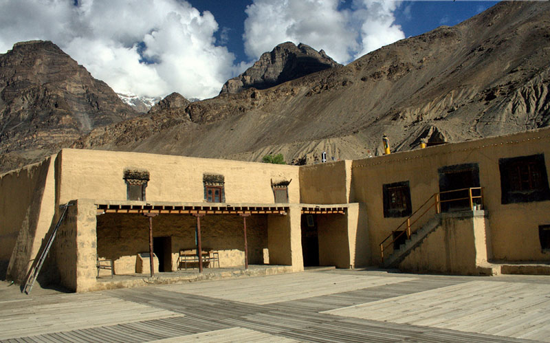Courtyard of Tabo Monastery. This is one of the most pious monastery in the Spiti Valley and suppose to be more than 1000 years old now.