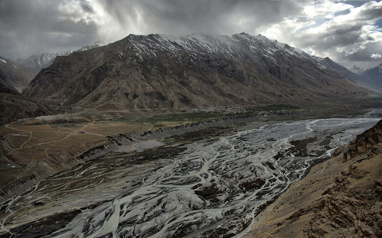 Spiti River from Kaza, Spiti Valley
