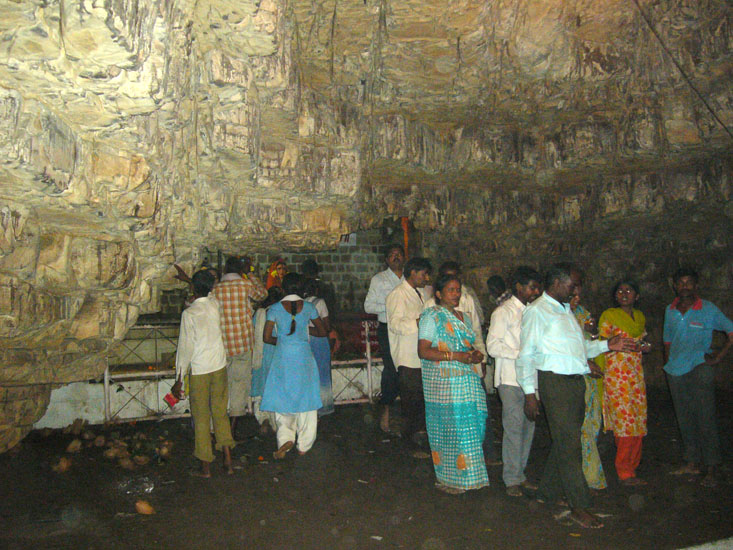 Devotees doing darshan in the cave. I got a feel of Rural India during this trip.