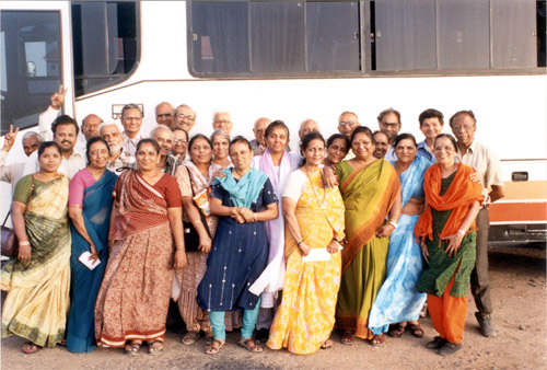 Group with whom I went for the Saurashtra Darsan trip organized by Gujarat Tourism. We had Indians from Chennai, Delhi, Amdavad, Mumbai, Pune, Muradabad who spoke Tamil, Hindi, Punjabi, Marathi and Gujarati. What united us was love for Bharat Mata (mother
