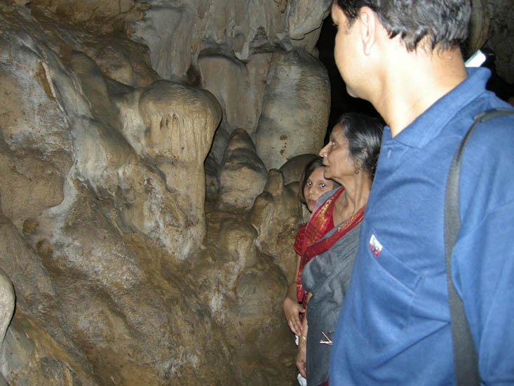 Inside the limestone caves at Baratang. We reach these caves through the Jarawa tribal reserve