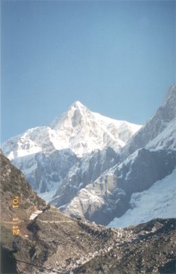 A view of the Kedar peaks.
