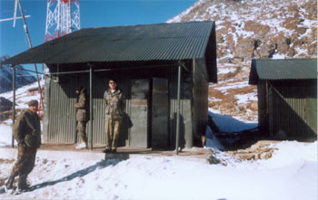 The army camp at Sela Pass
