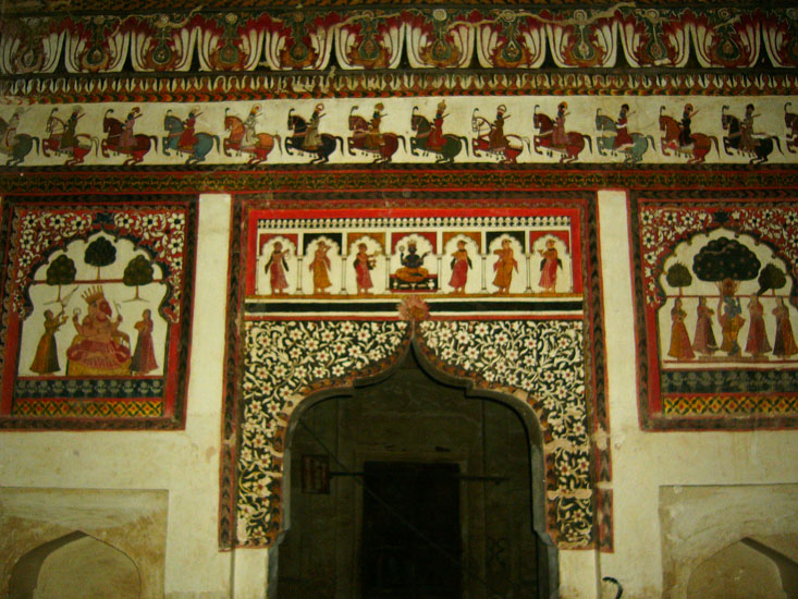 One of the rooms inside the Mahal.