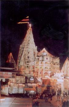 The temple during Janmashtami celebrations (birth of Bhagwan Sri Krishna).
