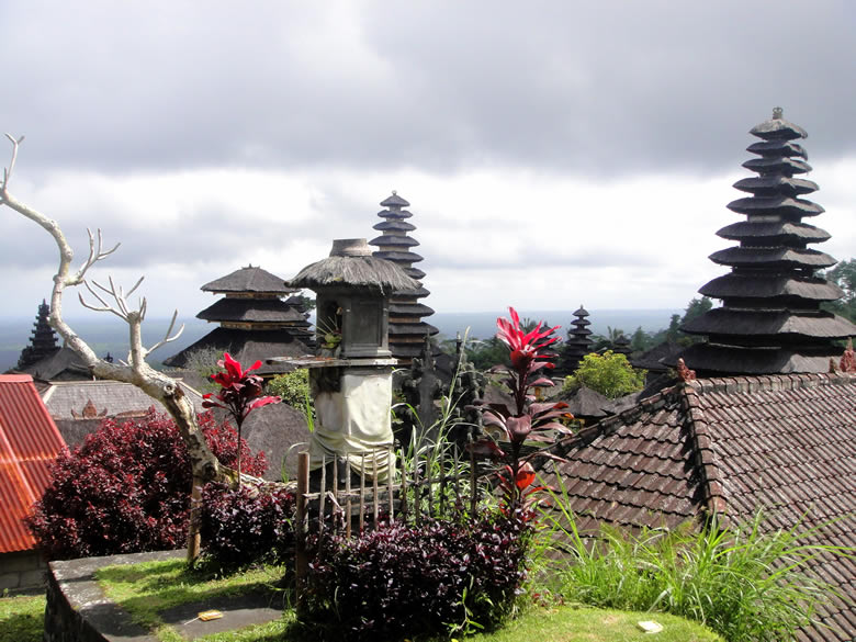 Perched on the slopes of Mount Agung, at a lofty 1,000 meters (3,000 feet) Besakih is the biggest and holiest of all the Balinese temples.