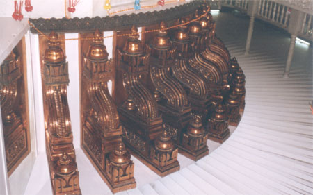 Carvings inside the temple.