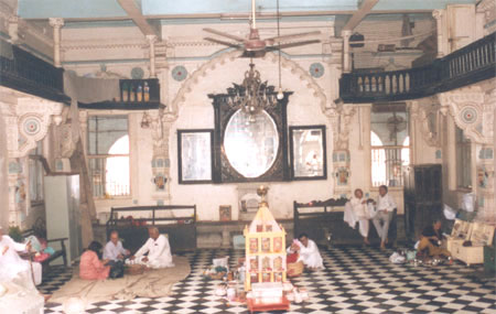 Inside the temple.