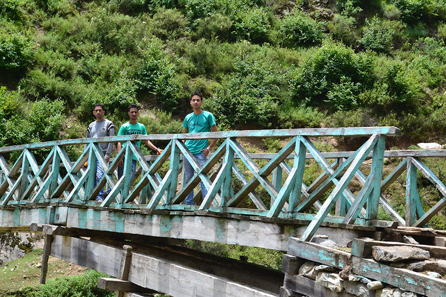 We had to cross this type of wooden bridges several times to reach Dachhan valley and adjoining areas. The beauty of the region we travelled was matchless. If developed well the tourist