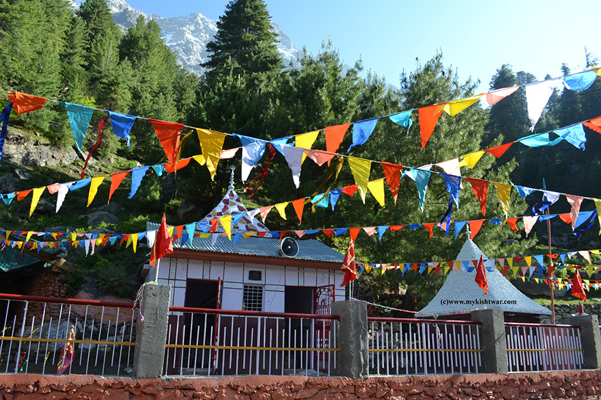 Hudh Mata Temple at Dachhan. It is the local name of Parvati, Shiva``s consort, derived from Sanskrit word hutti or ahuti. Close to this is another old temple in Kaikoot. It was made during the