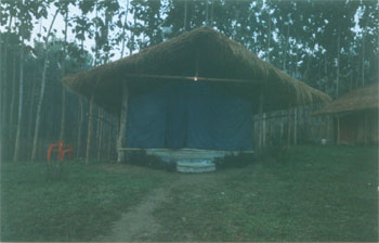 Tent accomodation at Green Reed at Kaziranga