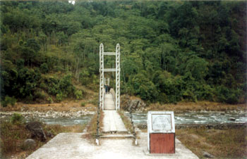 Suspension bridge on way to Tenga