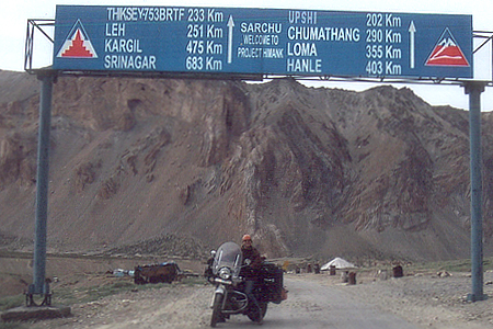 After a challenging ride we approach Sarchu - a check post on the way to Leh. I remember helping the policemen there by starting their Generator - they needed to clean the spark plug and needed a `pana`! Approx 3-5 hrs from Baralacha pass.