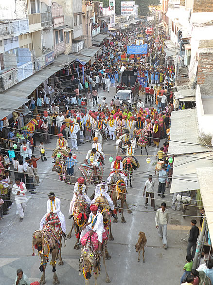 This is the Shoba Yatra similar to what you saw in Bundi.