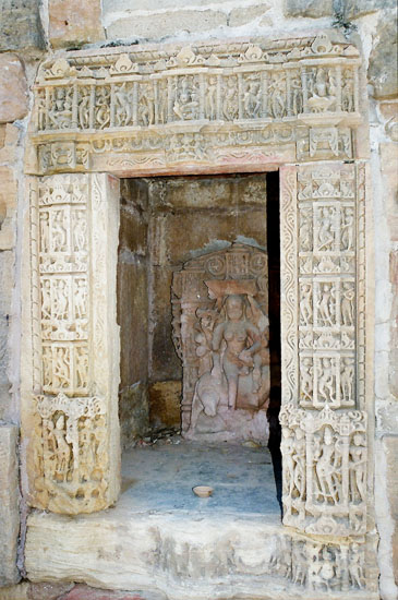 This picture is of the icon in the largest of the smaller temples that you saw in the earlier picture. Note the carvings at temple entrance. In the absence of a guide do not know details of icon inside of the temple.